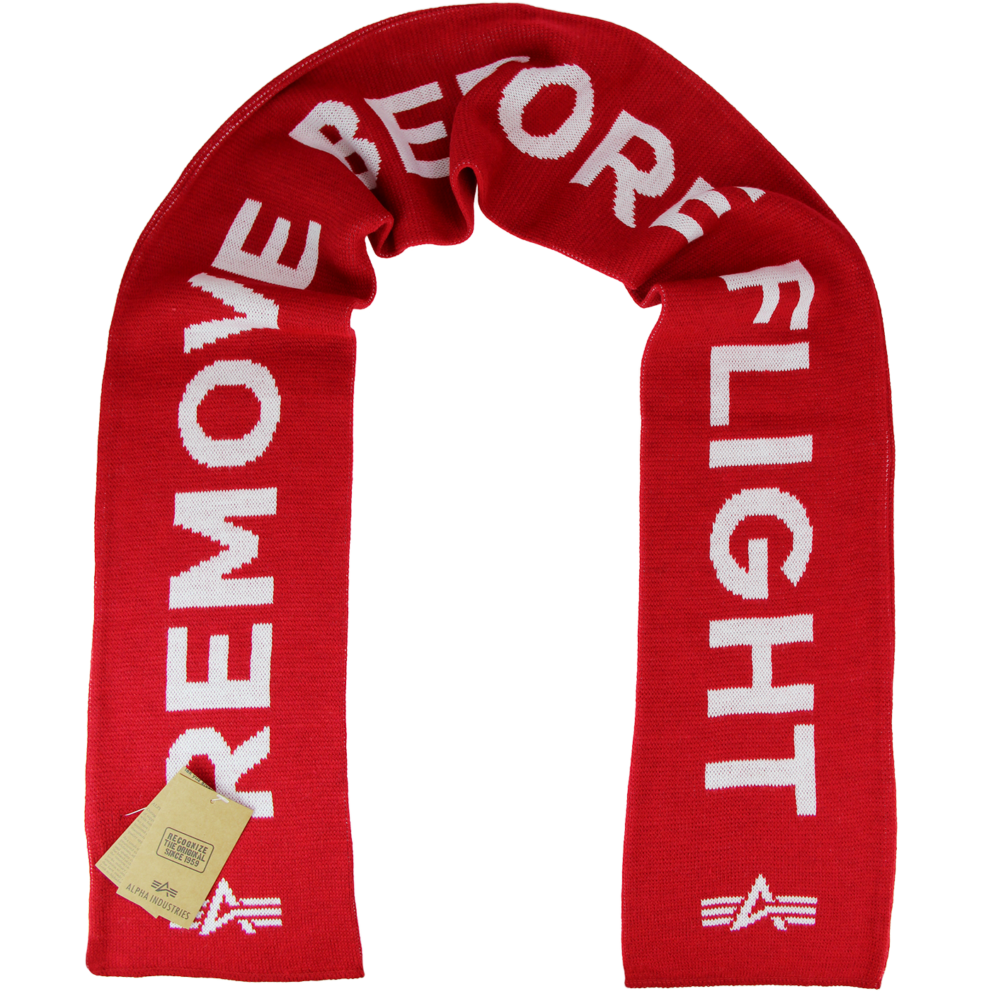 ALPHA INDUSTRIES Remove Before Flight Knit Scarf