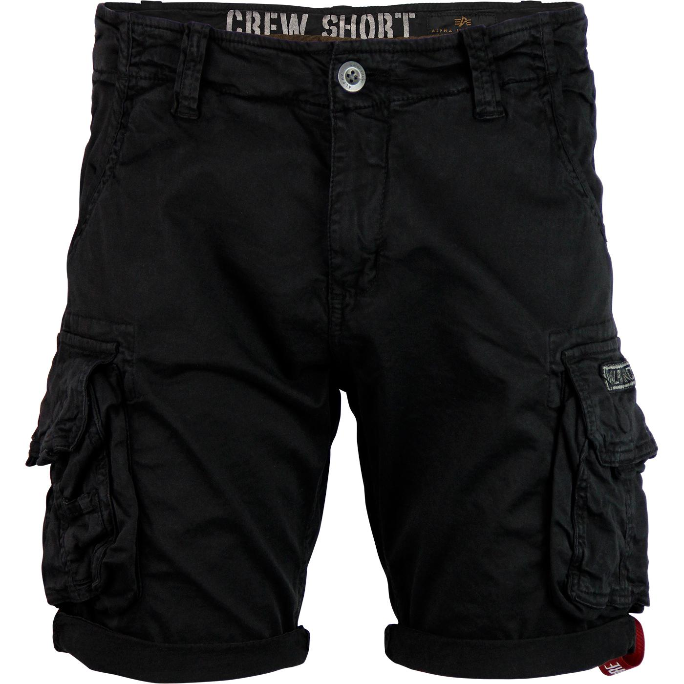 ALPHA INDUSTRIES Retro Combat Crew Shorts (Black)