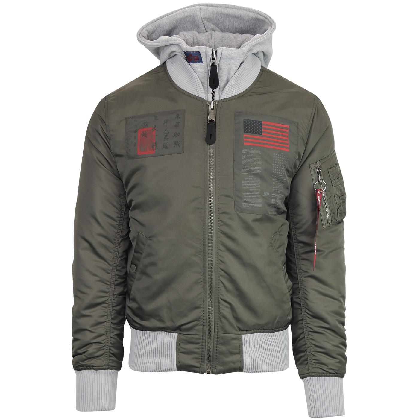 ALPHA INDUSTRIES MA-1 D-Tec Blood Chit Jacket