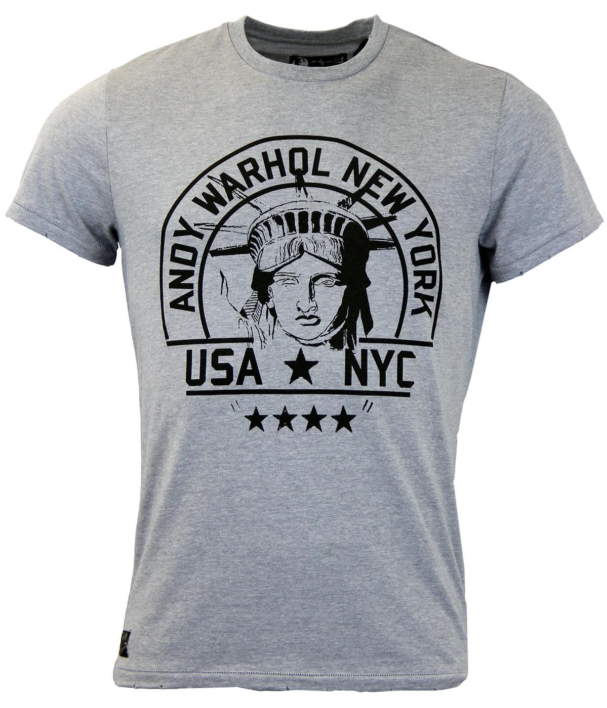 Giant ANDY WARHOL PEPE JEANS Statue of Liberty Tee