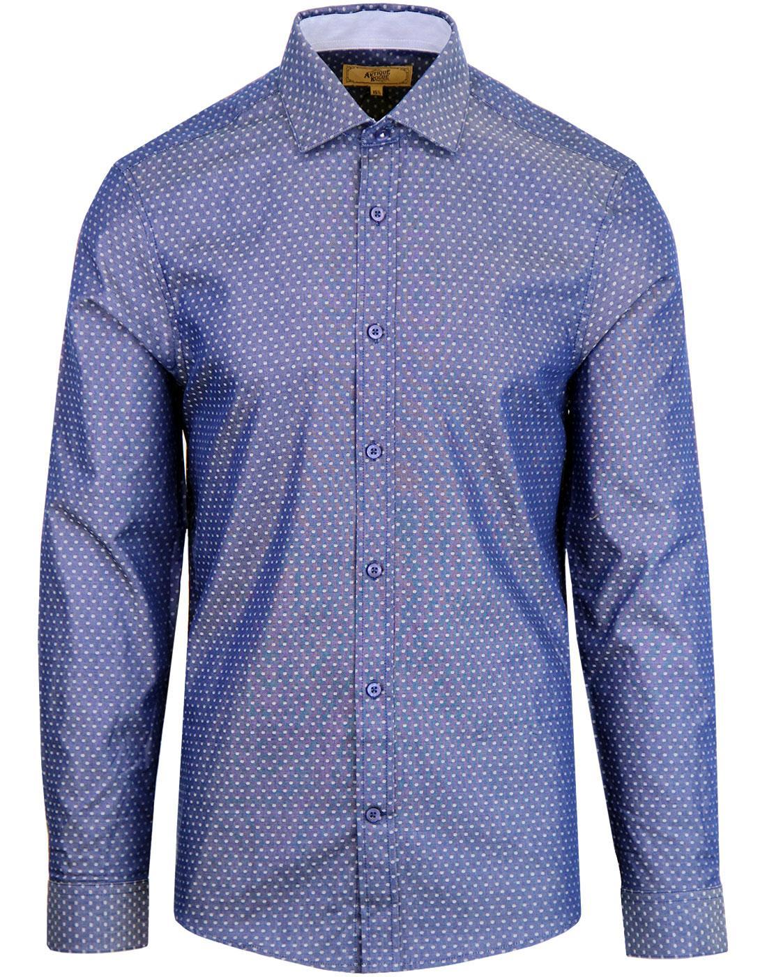 ANTIQUE ROGUE Men's Spread Collar Polkadot Shirt B