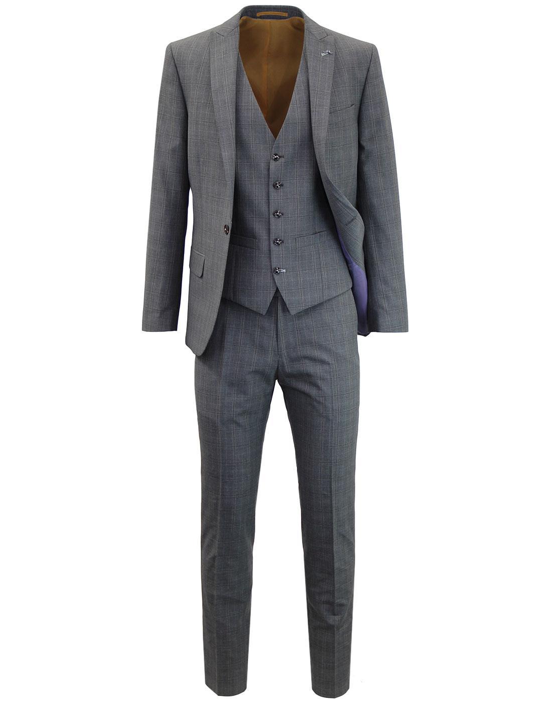 ANTIQUE ROGUE 1 Button POW Check Mod Suit - GREY