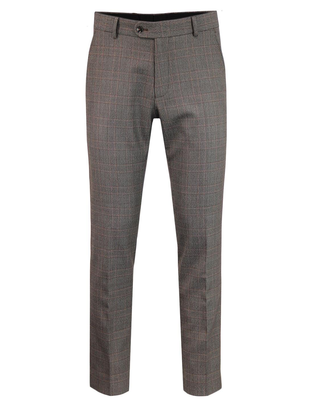 ANTIQUE ROGUE Retro Mod POW Check Suit Trousers F