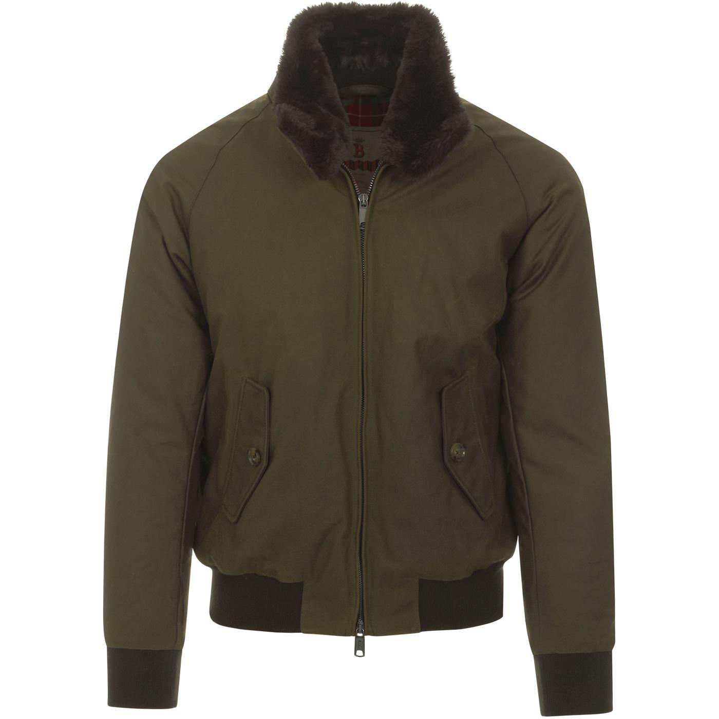 BARACUTA G9 Authentic Fit Eco Fur Collar Jacket