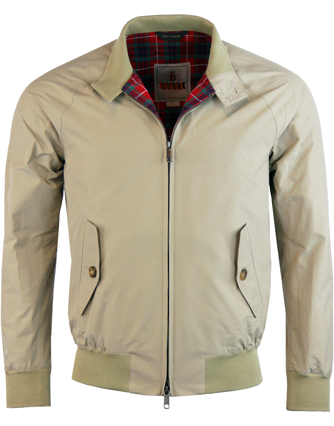 BARACUTA G9 Mod 60s Harrington Jacket - Natural
