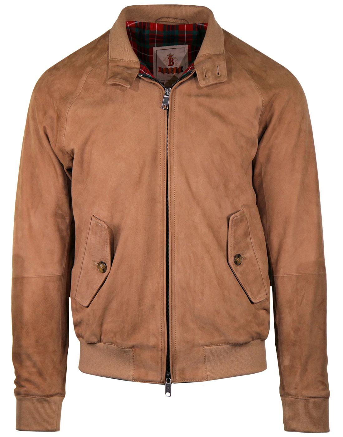 BARACUTA G9 Suede Retro Harrington Jacket SAND