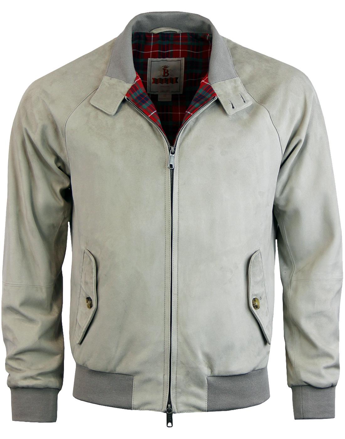 ccc5a00afeda7 BARACUTA G9 Mod 60s Suede Harrington jacket in Mist
