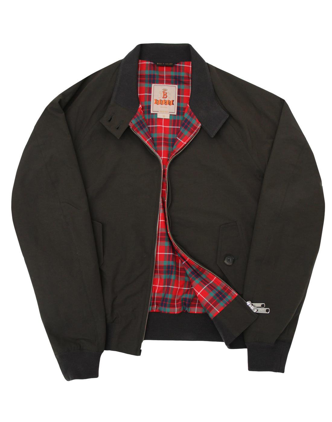 Baracuta Womens G9 Made in England Harrington Jacket Faded Black 9f5fa94acd