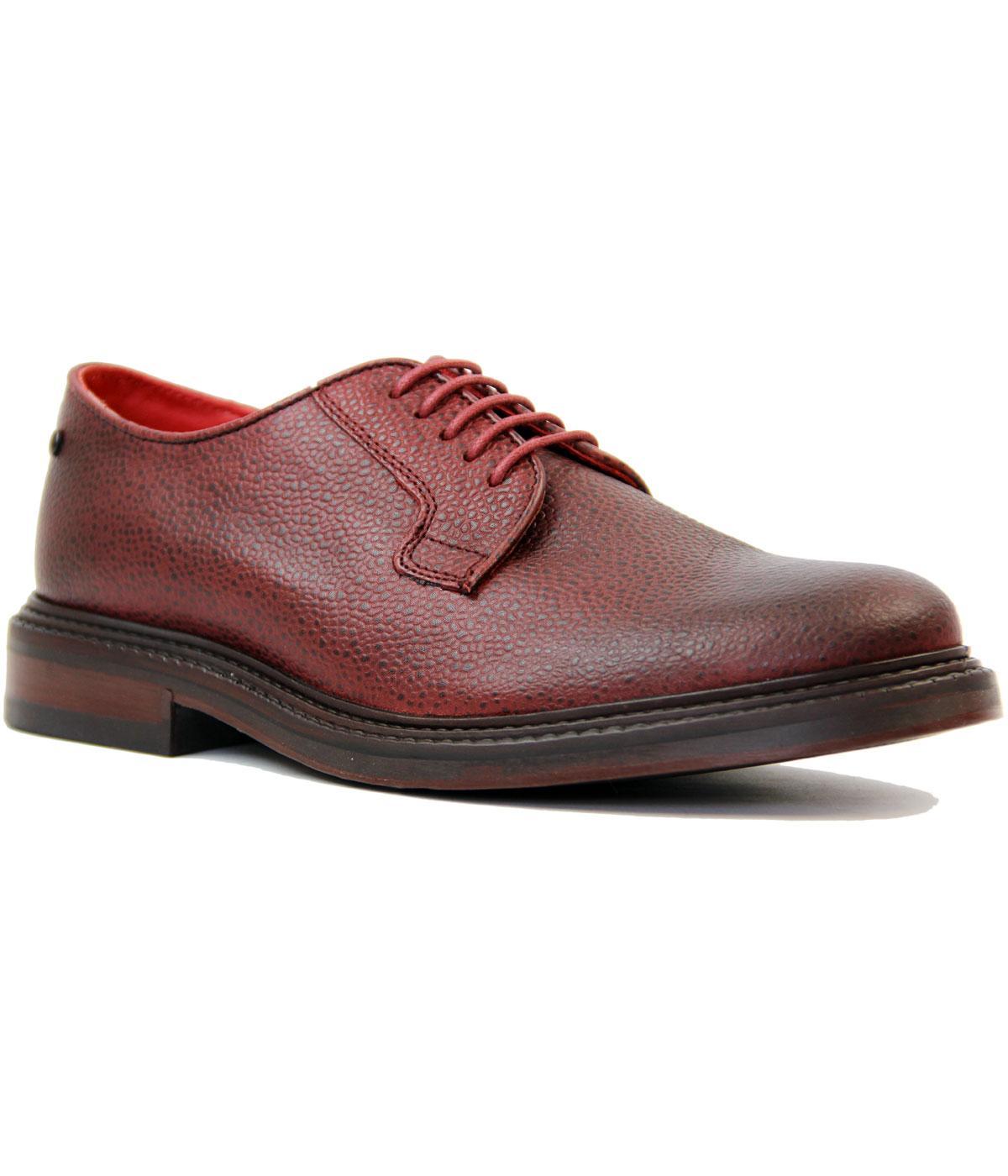 official photos 359eb 29558 BASE LONDON Maudsley Retro Mod Scotch Grain Derby Shoes in Red