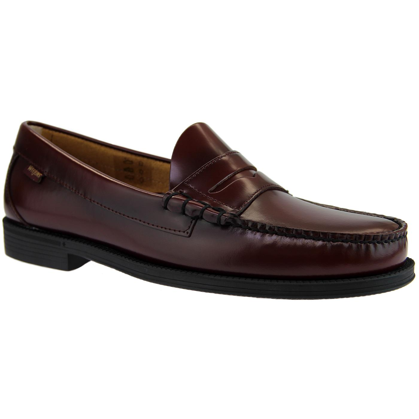 Bass Weejun Ease: Larson Penny Loafer in Wine