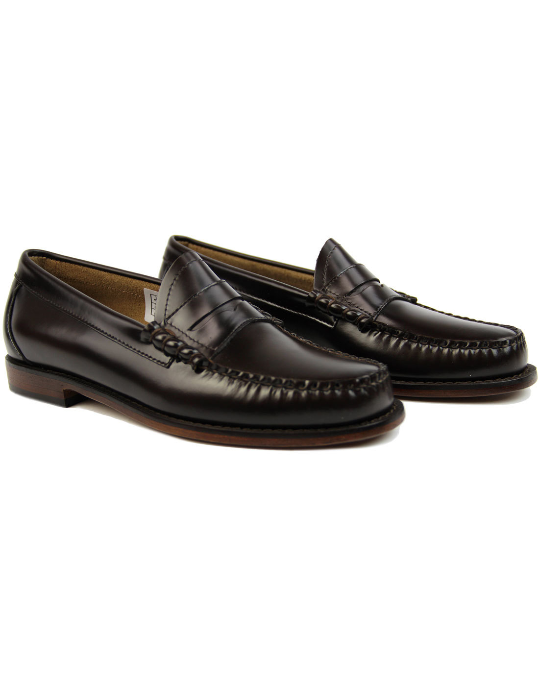 099209d9294 BASS WEEJUNS Larson Retro 60s Mod Penny Loafers in Dark Brown
