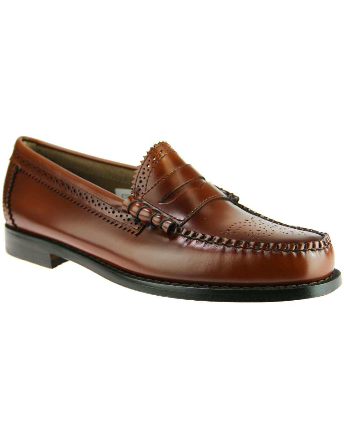 Larson Brogue BASS WEEJUNS Mod Penny Loafers (MB)