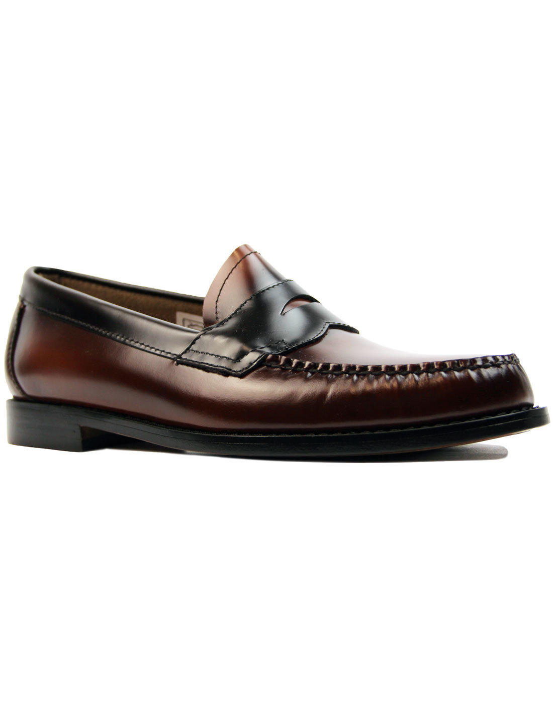 Logan Two Tone BASS WEEJUNS Mod Penny Loafers (TB)