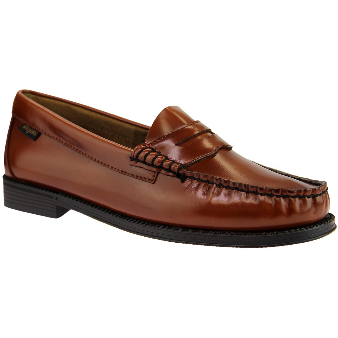 BASS WEEJUNS Women's Mod 60's Penny Loafers COGNAC