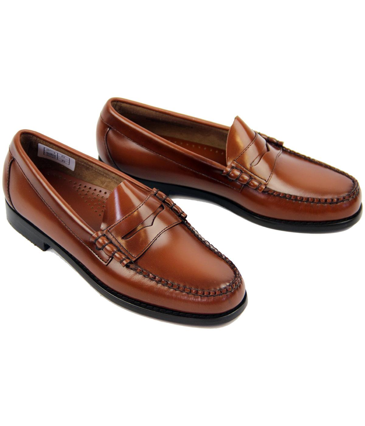 BASS WEEJUNS Larson Retro Mod Penny Loafer Shoes in Brown ...