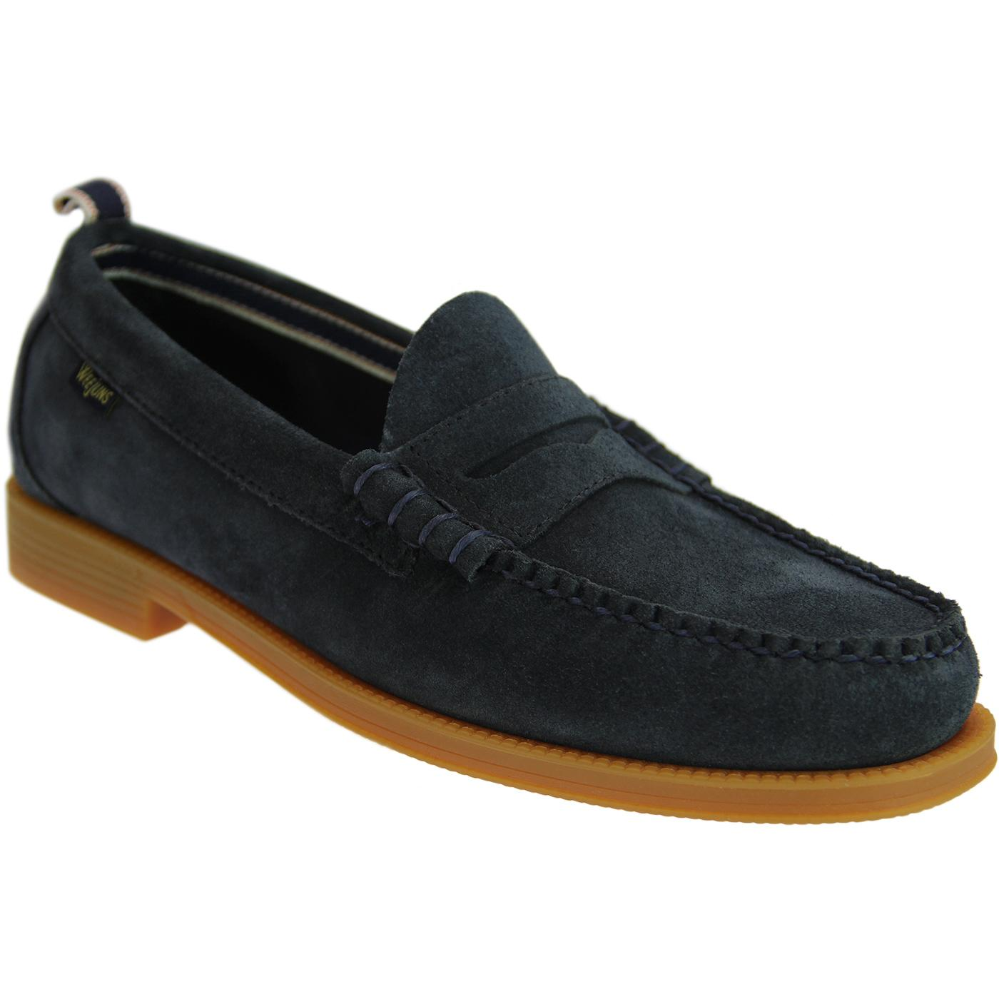 Larson Suede BASS WEEJUNS 60s Beef Roll Loafers N