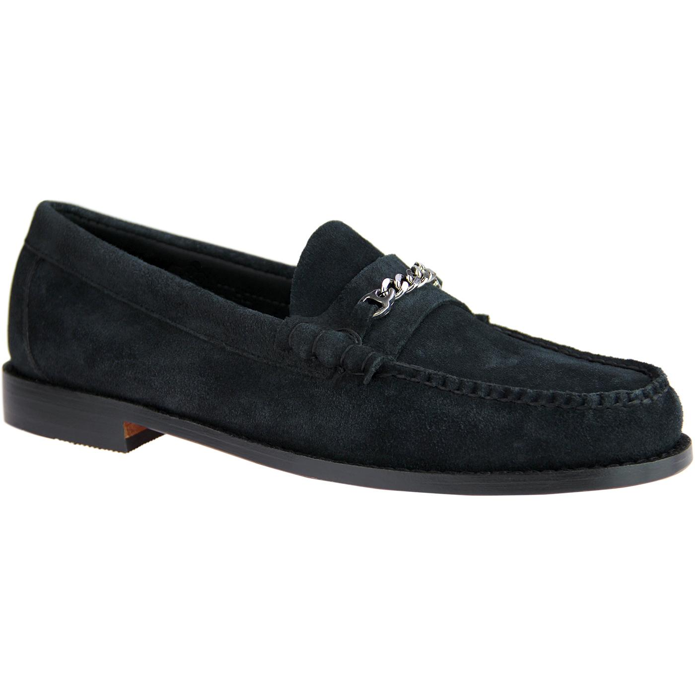 Lincoln Reverso BASS WEEJUNS Suede Snaffle Loafers