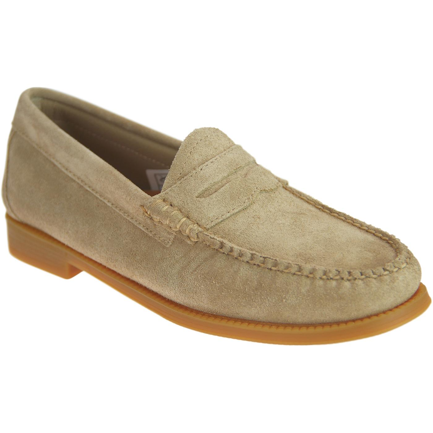 BASS WEEJUNS Women's Retro Suede Penny loafers