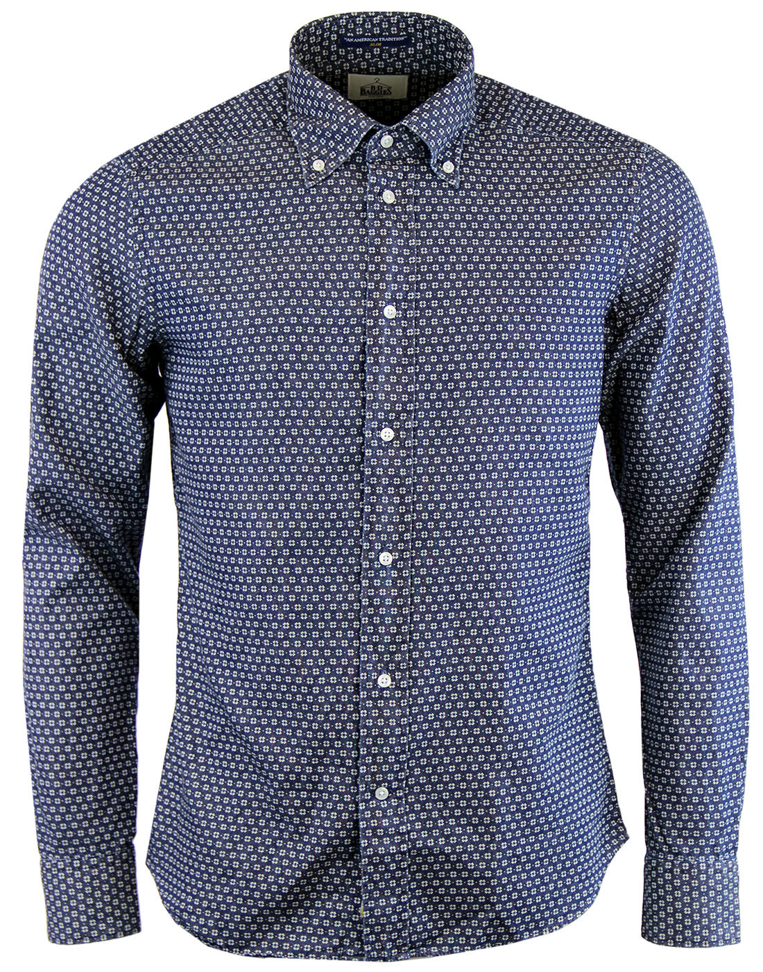 Dexter B D BAGGIES Retro Mod Floral Pin Dot Shirt