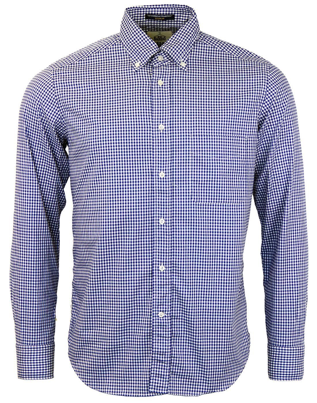 Bradford B D BAGGIES L/S Classic Mod Gingham Shirt