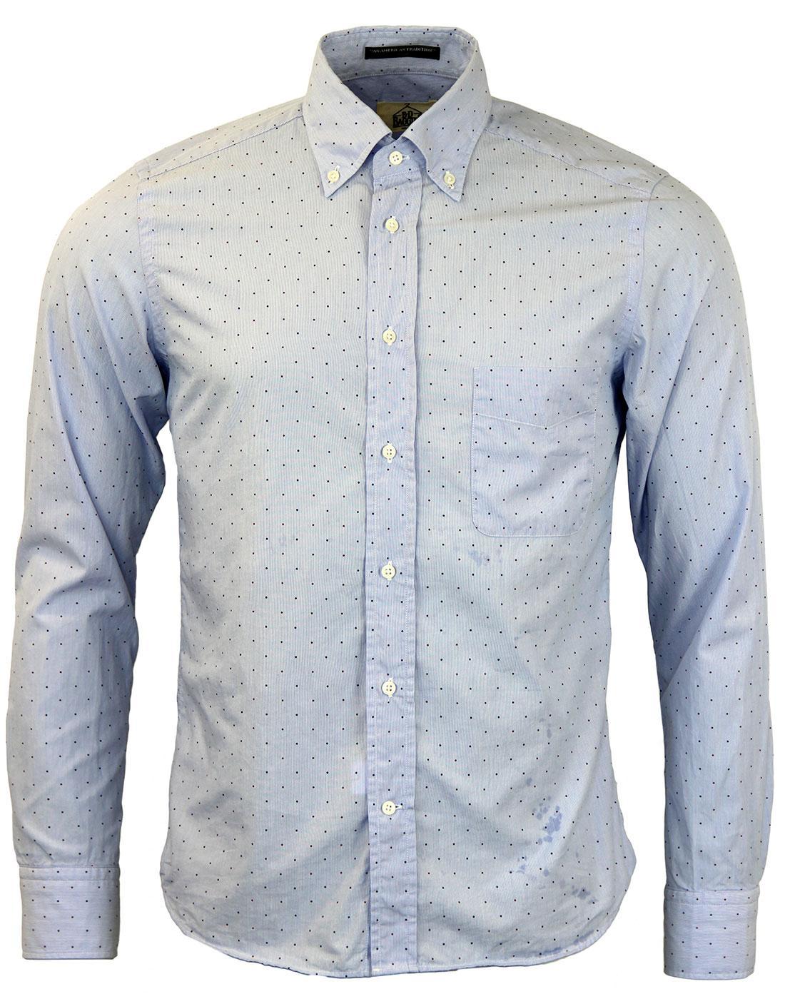 Dexter B D BAGGIES Mod Slim Multi Pin Dot Shirt