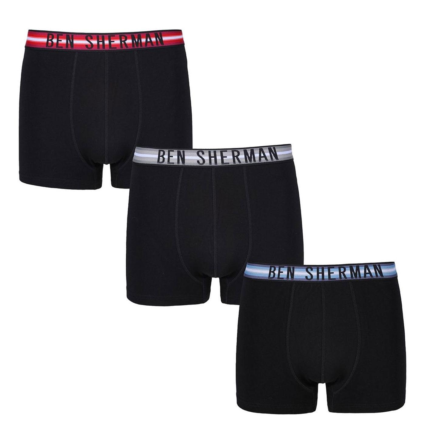 + Wynton BEN SHERMAN 3 Pack Men's Trunks B/R/G