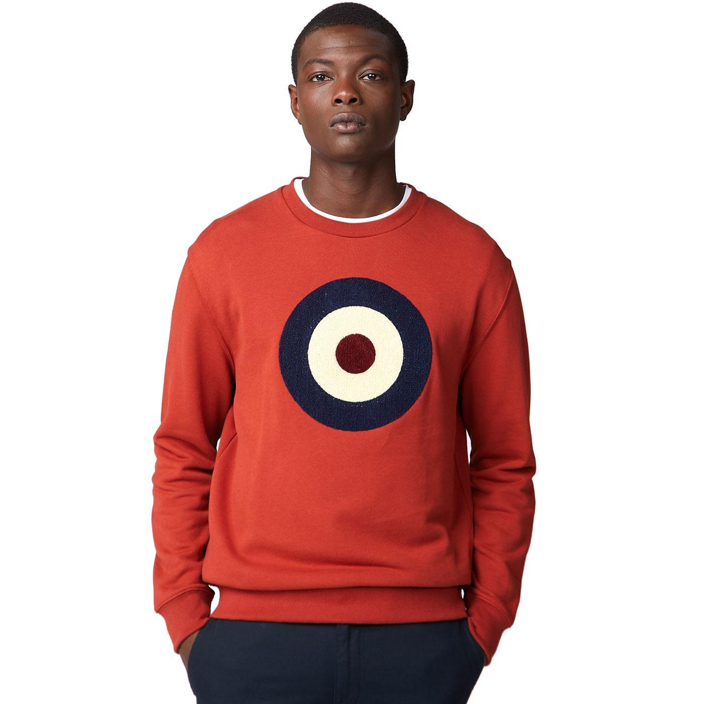 BEN SHERMAN Applique Mod Target Logo Sweater RUST