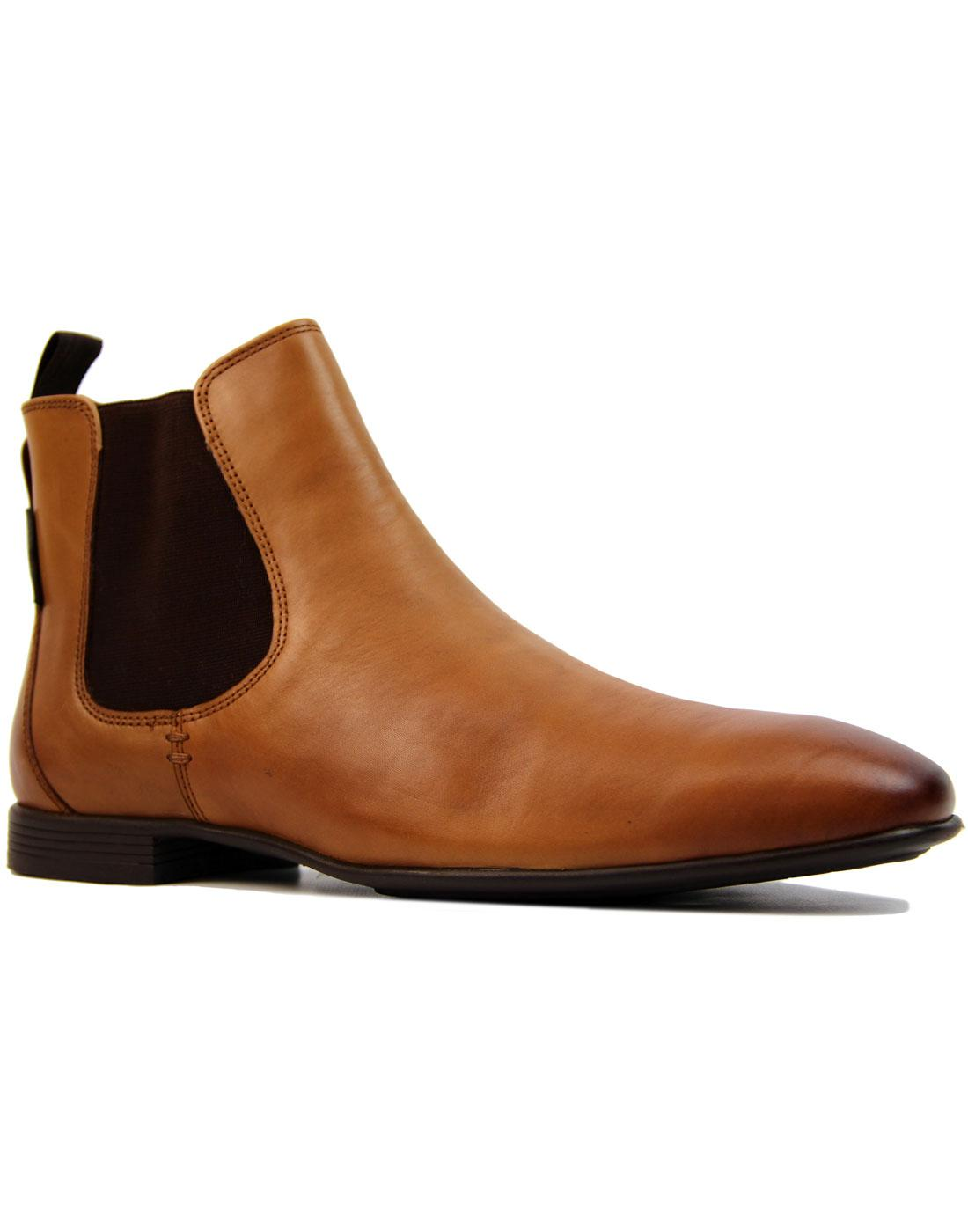 982c9996104 BEN SHERMAN Archibald 60s Mod Smooth Leather Chelsea Boots in Tan