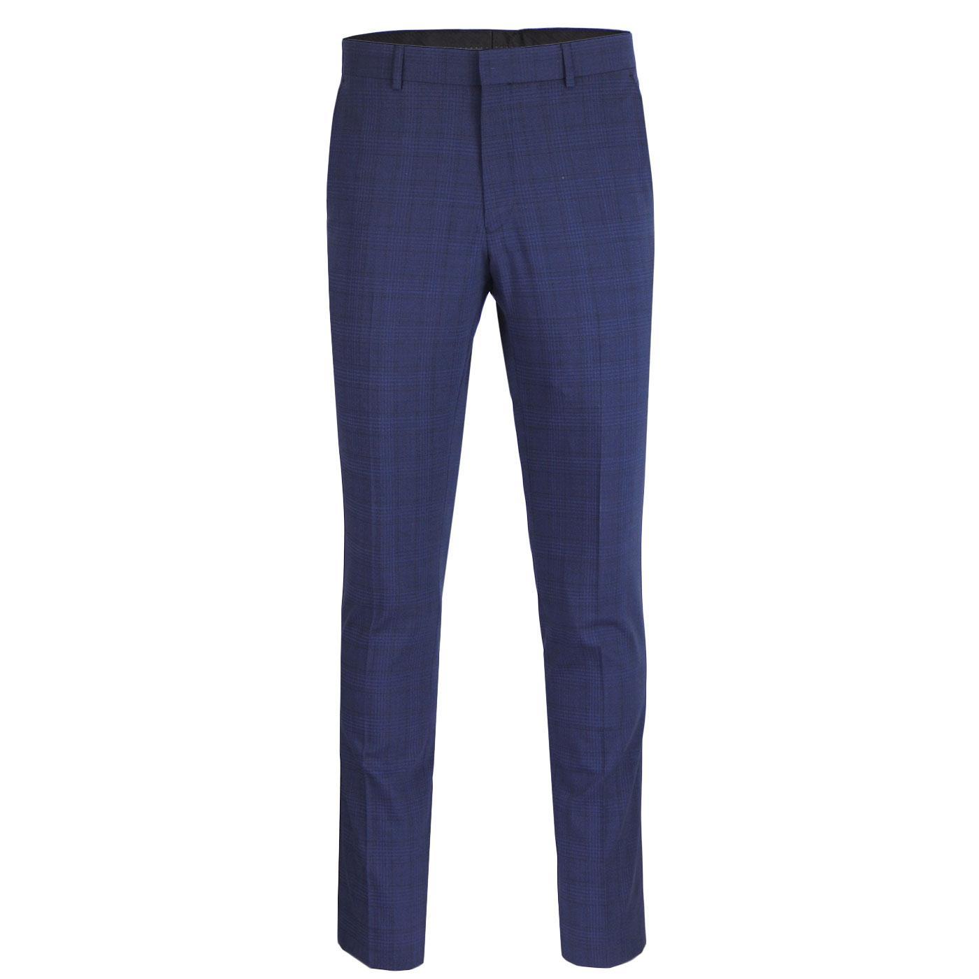 BEN SHERMAN 60s Mod Sapphire check Suit Trousers