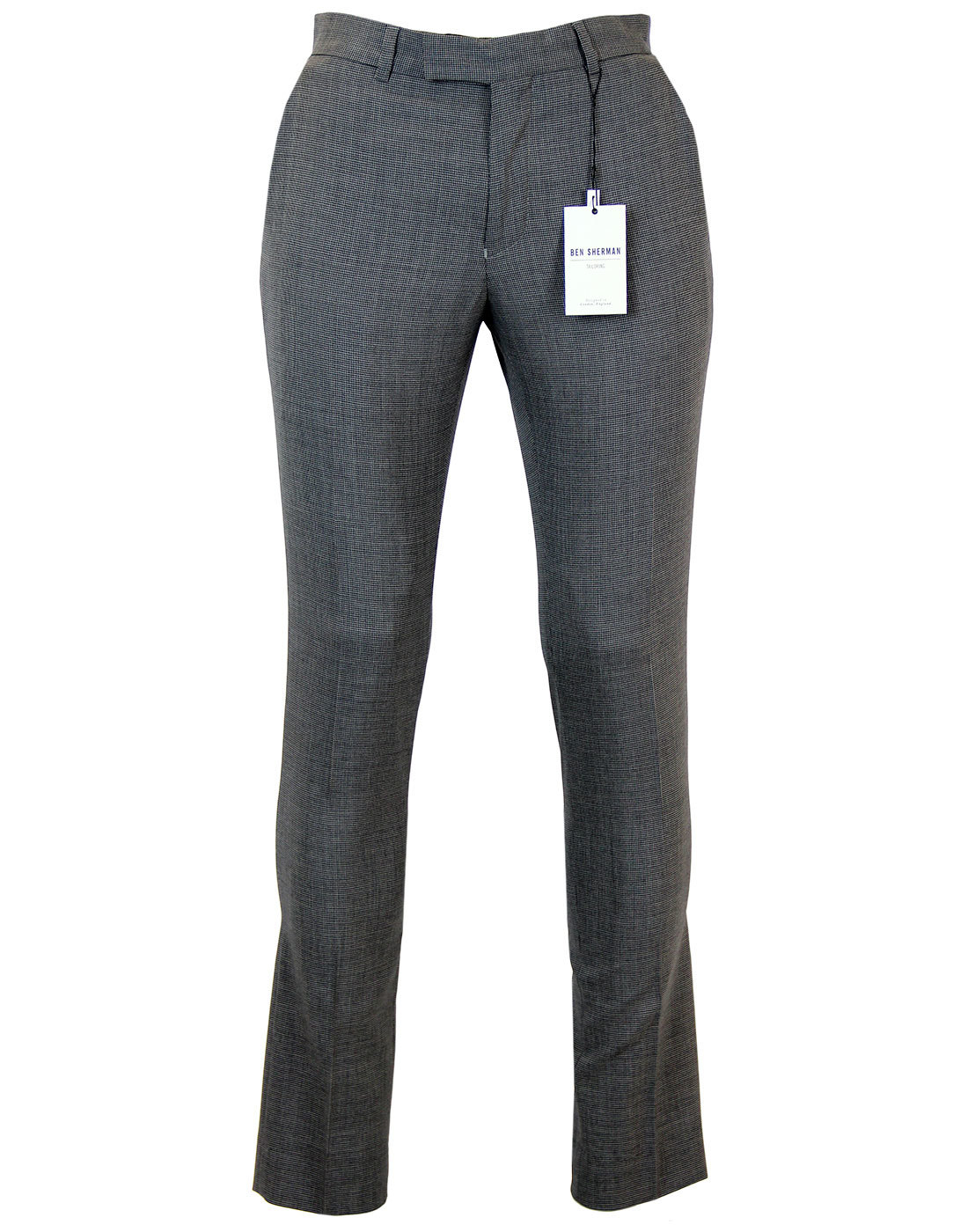BEN SHERMAN 1960s Mod Micro Dogtooth Slim Trousers
