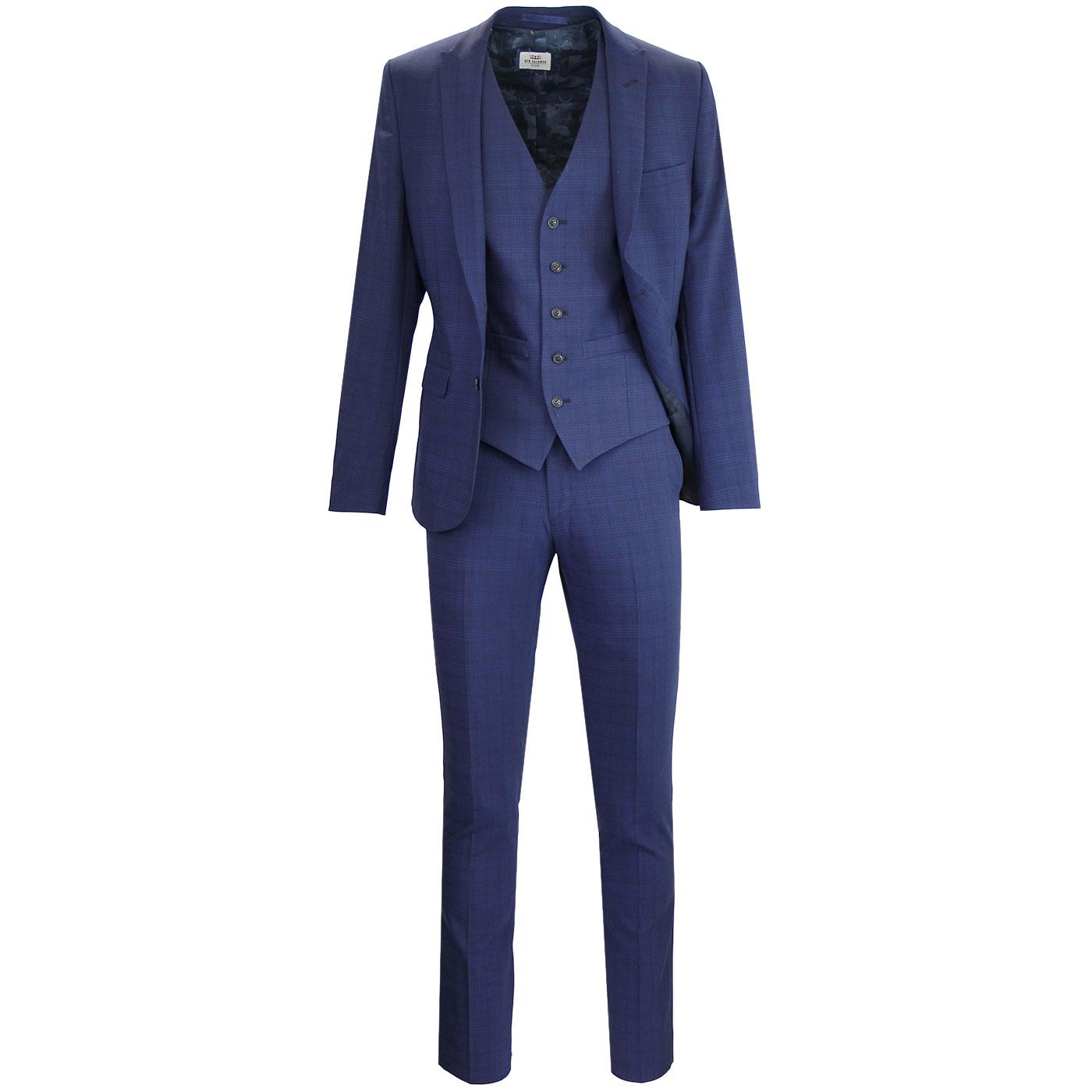 BEN SHERMAN Prince of Wales Mod Suit in Blue