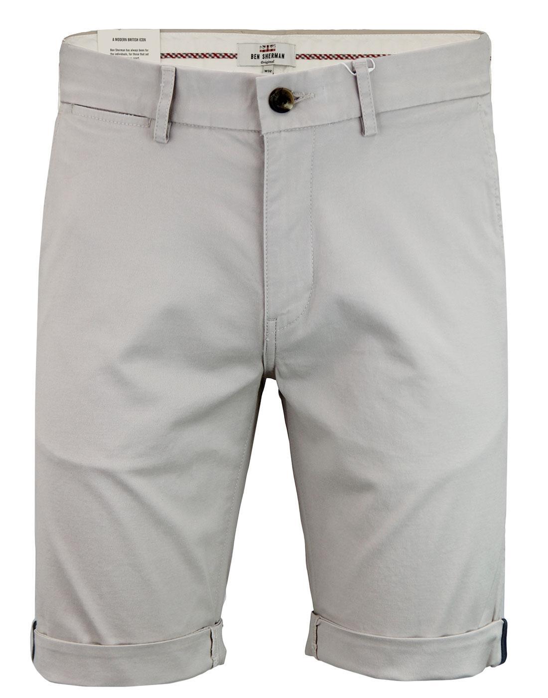 BEN SHERMAN Men's Retro Chino Shorts PUTTY