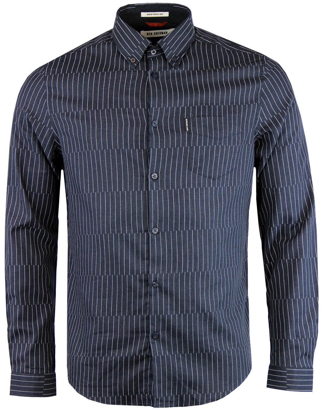 Modern Pinstripe BEN SHERMAN Retro Mod Shirt