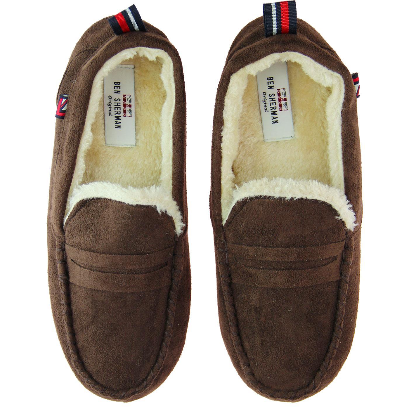 Four Seasons BEN SHERMAN Moccasin Slippers (Brown)