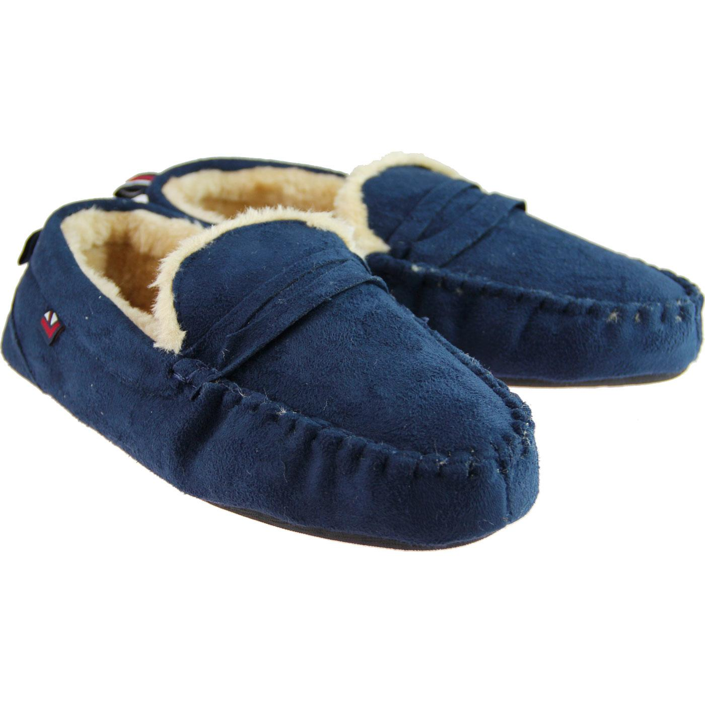 5f574130066c BEN SHERMAN Four Seasons Mod Moccasin Slippers is Navy