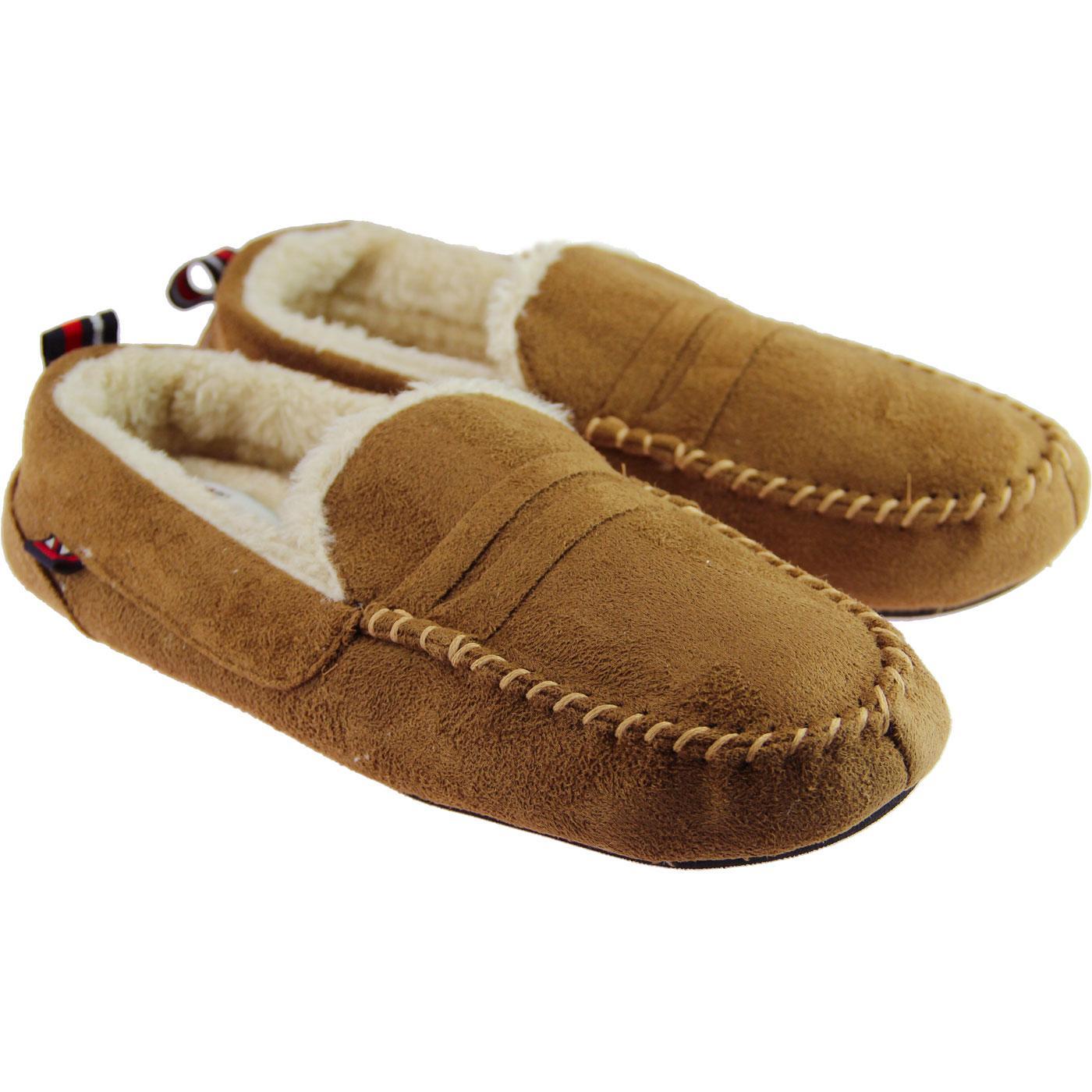 1607fecc06ff BEN SHERMAN Four Seasons Mod Moccasin Slippers is Tan