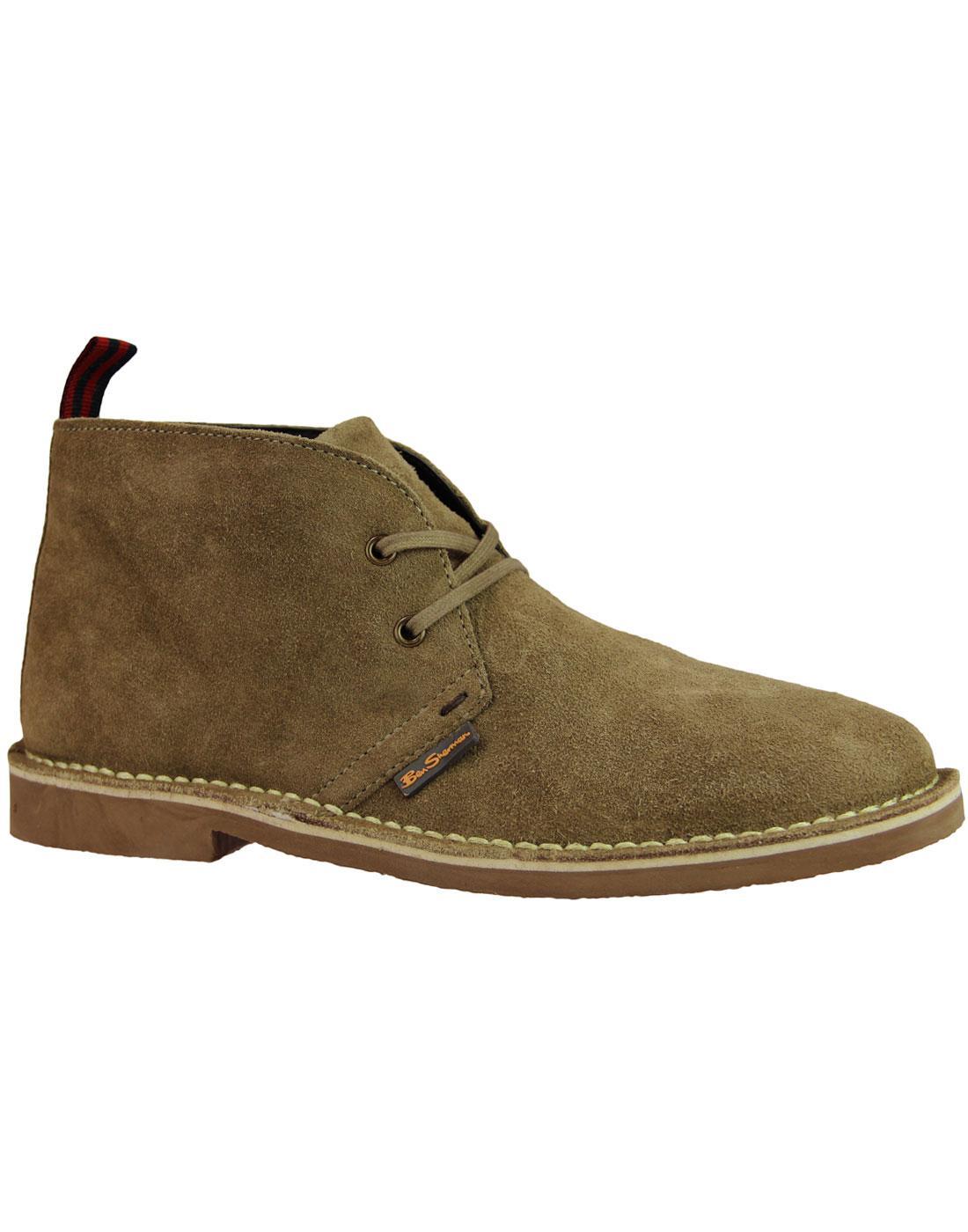 Hunt BEN SHERMAN Retro Mod Suede Desert Boots SAND