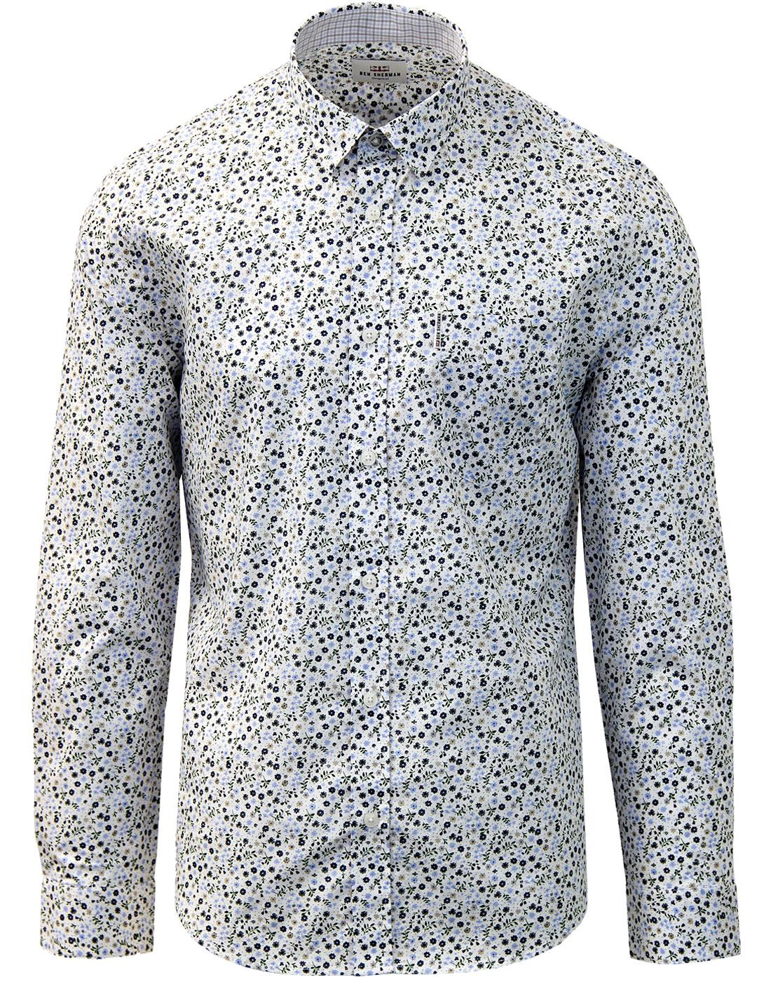 BEN SHERMAN Mod Micro Floral Button Under Shirt W