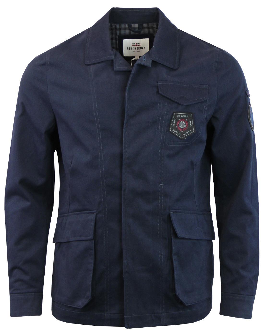 BEN SHERMAN 60s Mod Military Twill Badged Jacket C