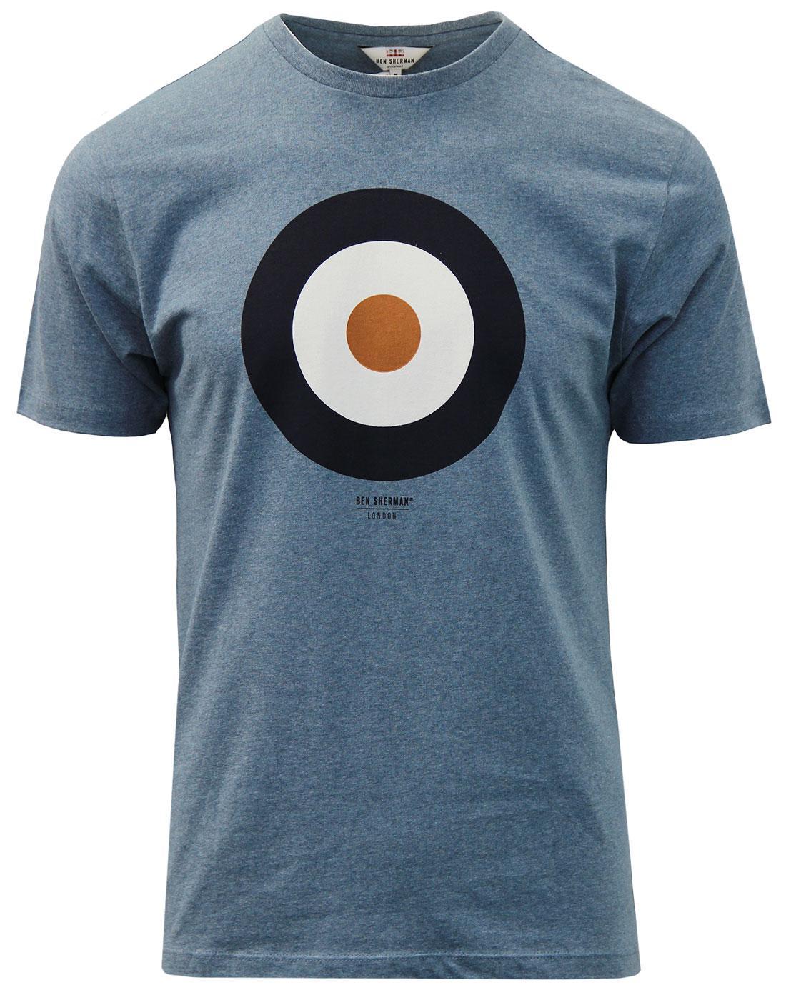 BEN SHERMAN Pop Art Mod Target T-Shirt BLUE SHADOW