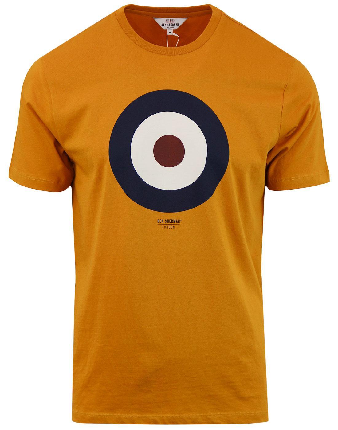 BEN SHERMAN 60s Pop Art Mod Target T-Shirt OCHRE