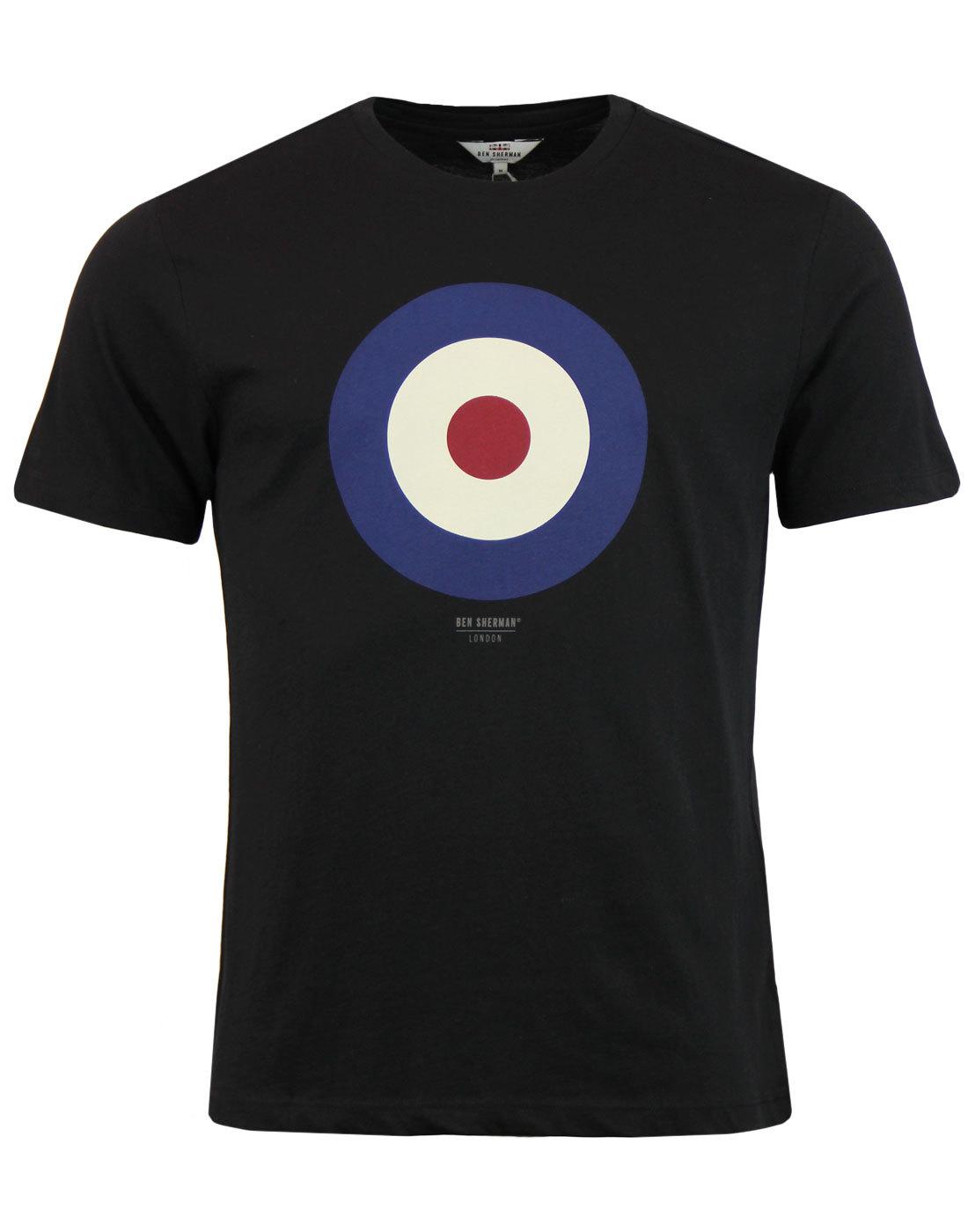 BEN SHERMAN Keith Moon Mod Target T-Shirt Black