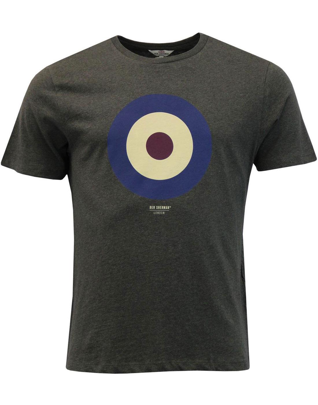 BEN SHERMAN Keith Moon 60s Mod Target T-Shirt (P)
