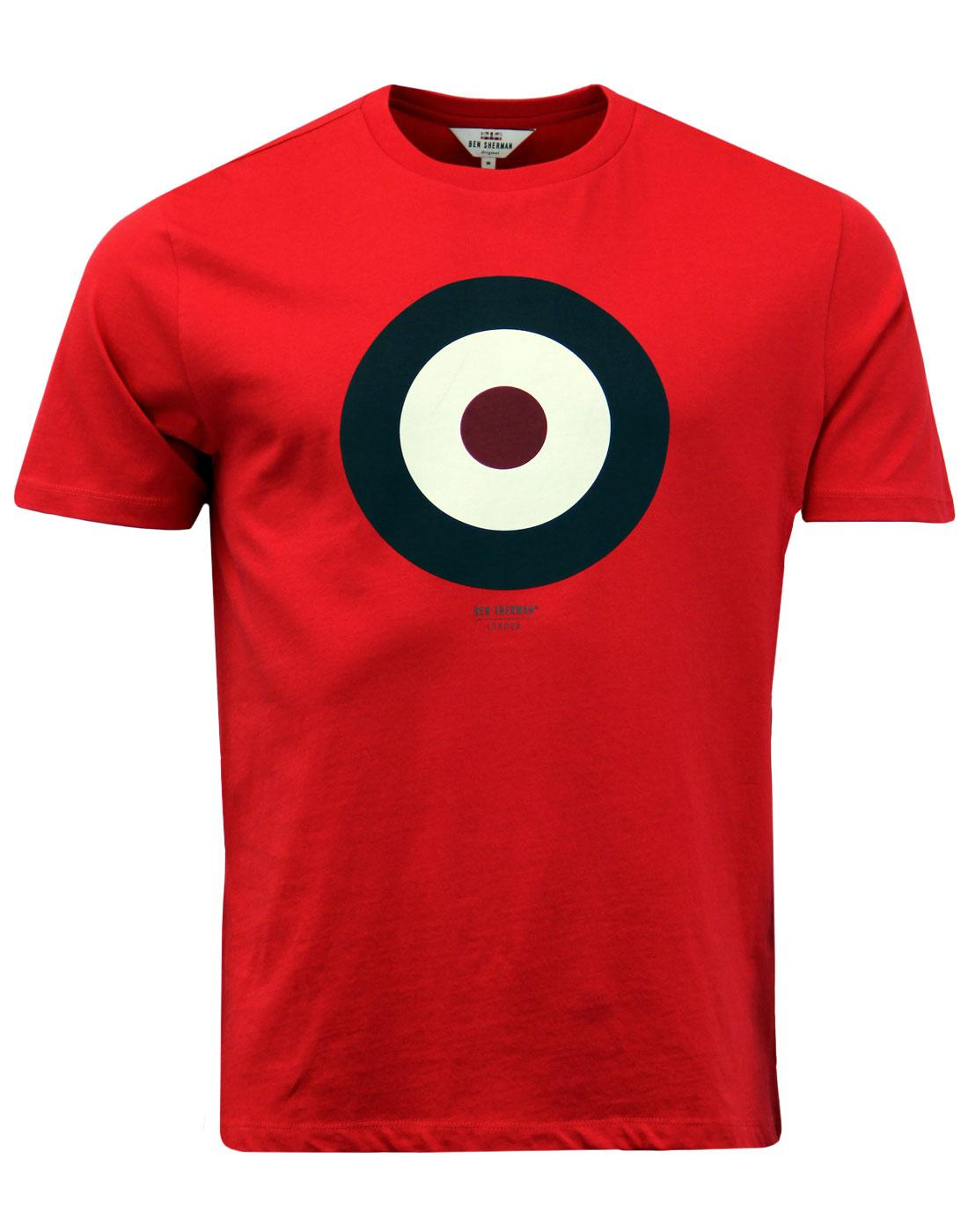 BEN SHERMAN Keith Moon 60s Mod Target T-Shirt (DR)