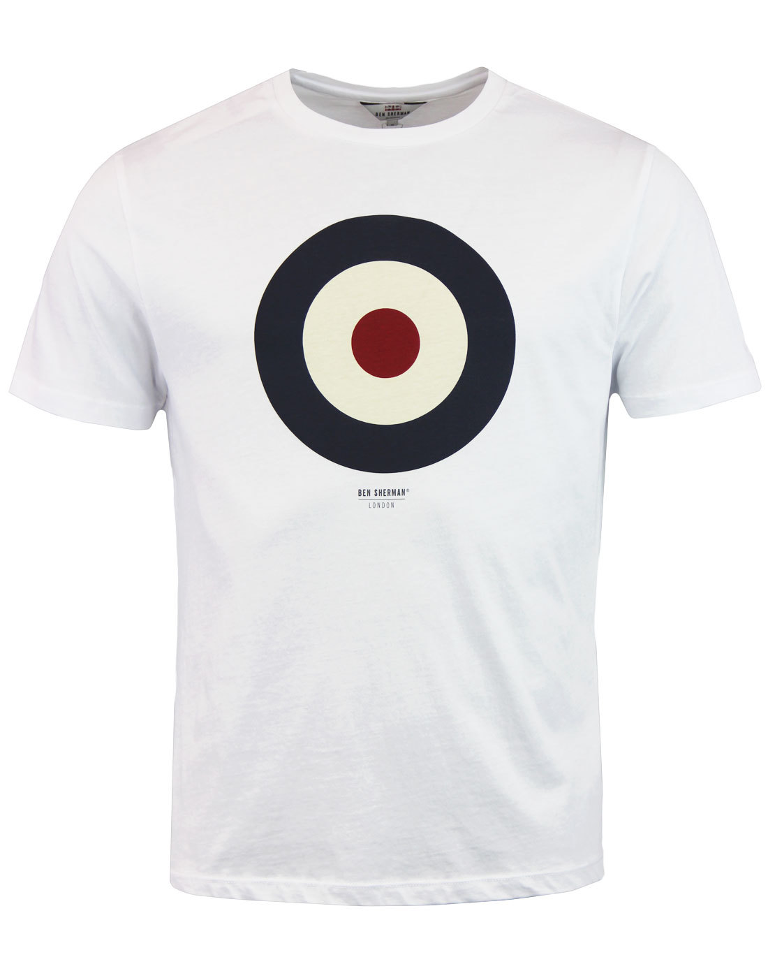BEN SHERMAN Keith Moon Mod Target T-Shirt WHITE
