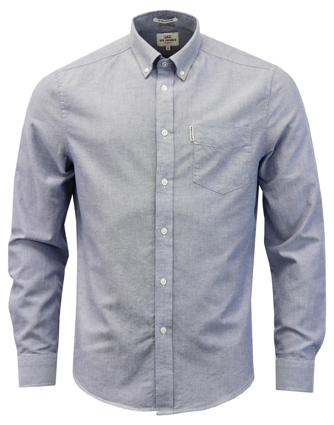 BEN SHERMAN Men's Mod Button Down Oxford Shirt Bl