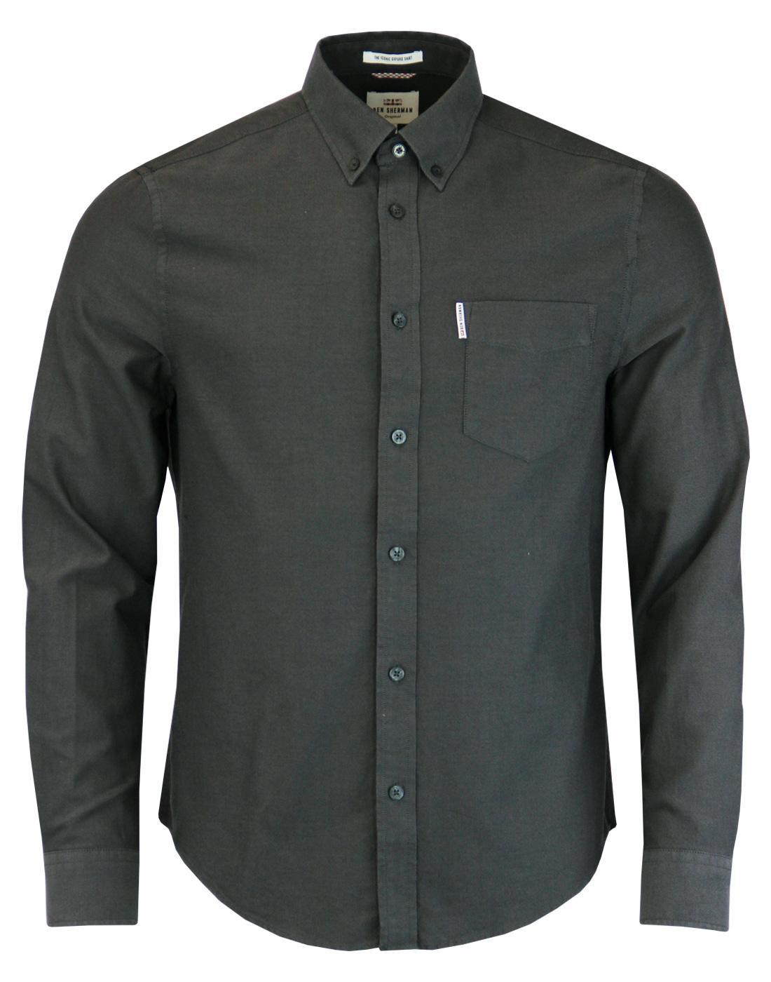 BEN SHERMAN Men's Mod Button Down Oxford Shirt (G)