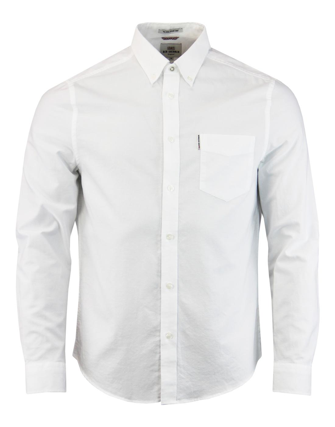 BEN SHERMAN Men's Mod Button Down Oxford Shirt (W)