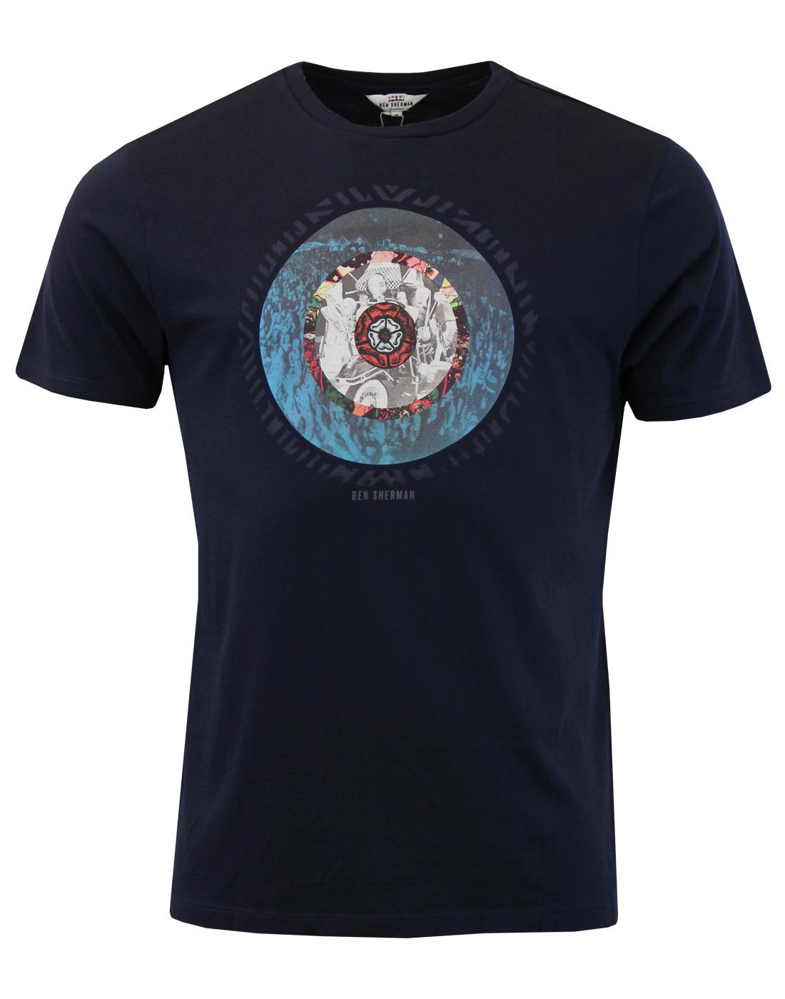 BEN SHERMAN Mod Northern Soul Photo Target T-shirt