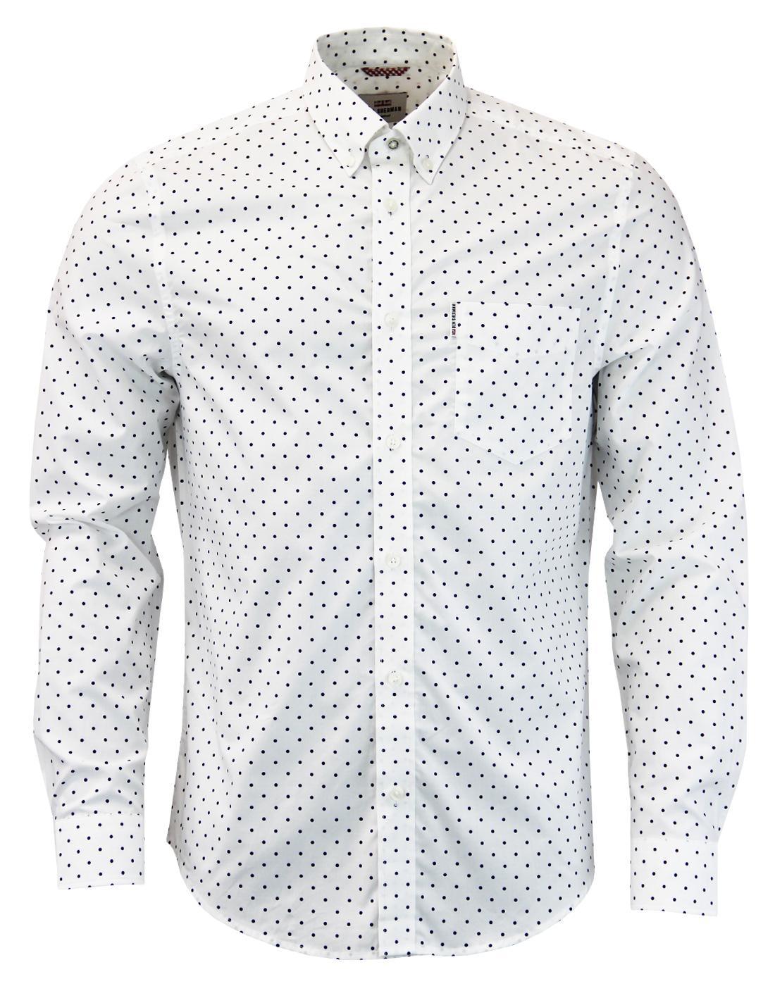 BEN SHERMAN 1960s Mod Classic Polka Dot Shirt (W)